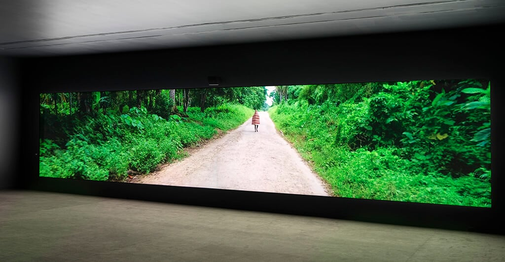 Installation view of Taloi Havini's work in Transits and Returns, exhibition at the Vancouver Art Gallery, September 28, 2019 to February 23, 2020