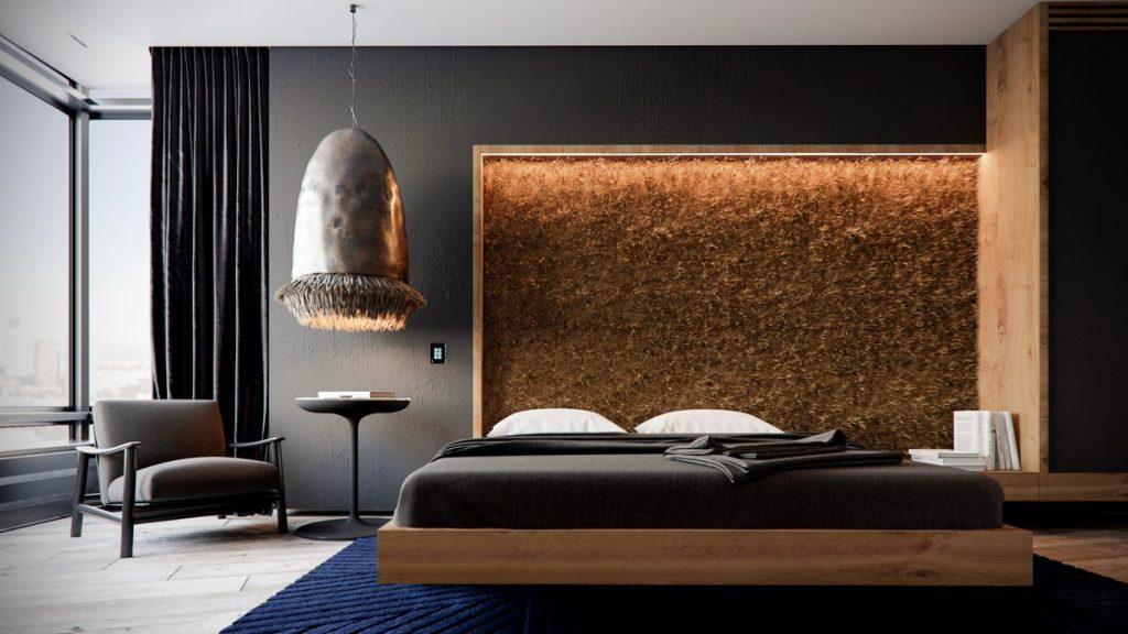 luksusowa sypialnia Wizualizacja Meshchankin Artem & Sergey Makhno