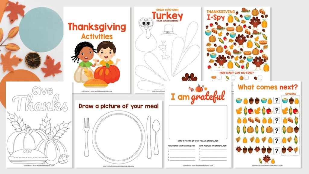 Thanksgiving Kids Activity Workbook