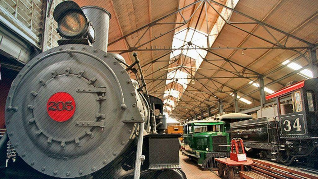 Locomotora 205 en el Museo del Ferrocarril de Guatemala