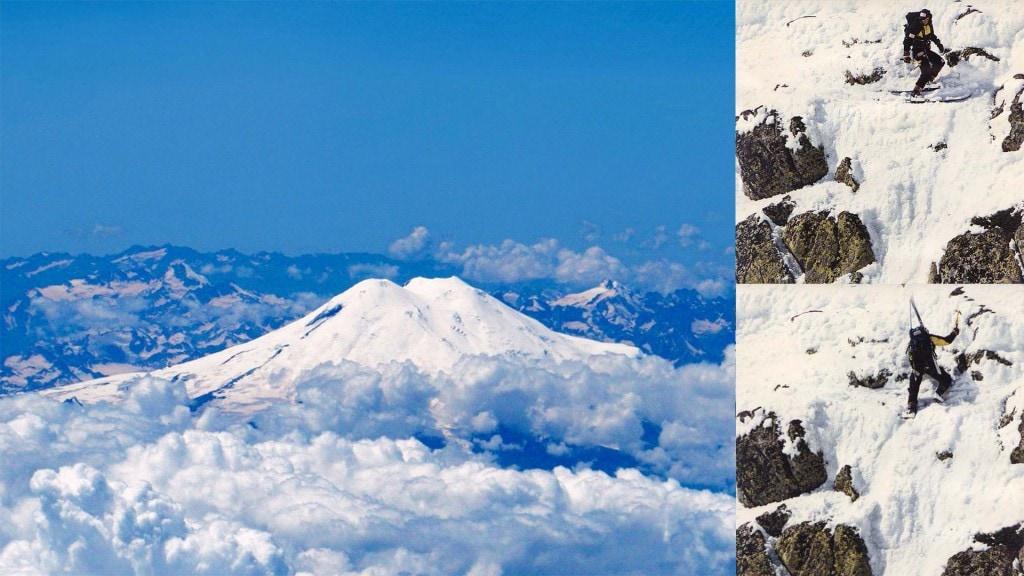 Спускане със ски Първото изкачване на Иван Кристоф на върха на Европа
