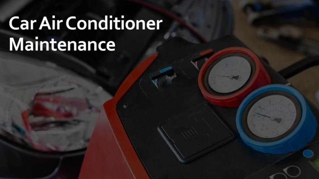 car air conditioner maintenance