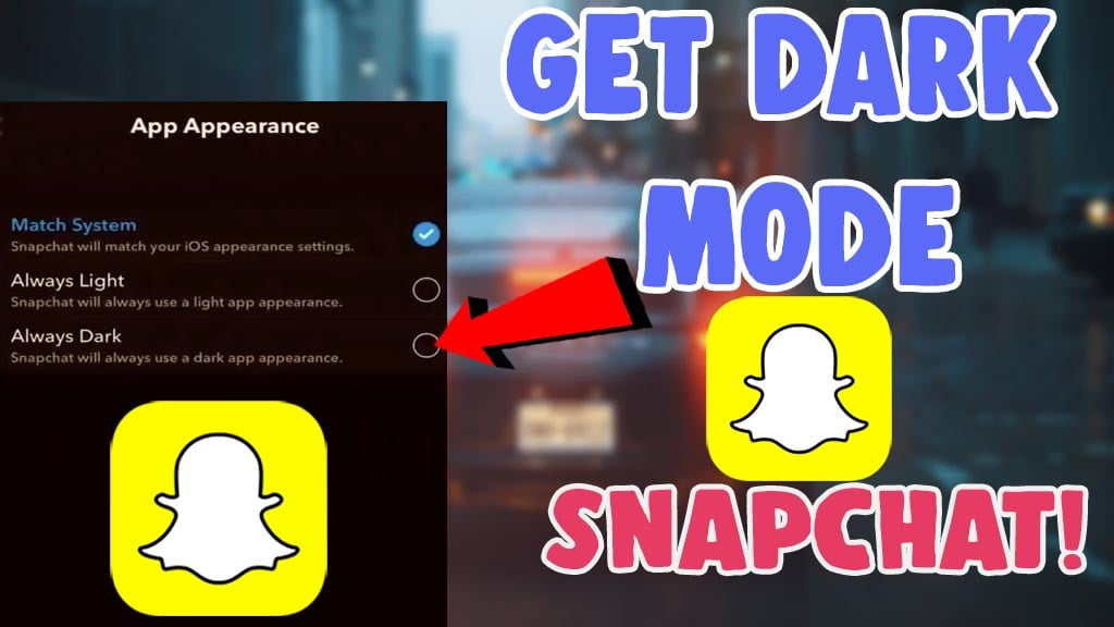 get dark mode snapchat ios android 2021