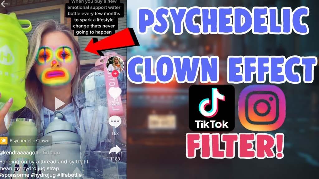 get psychedelic clown tiktok filter instagram