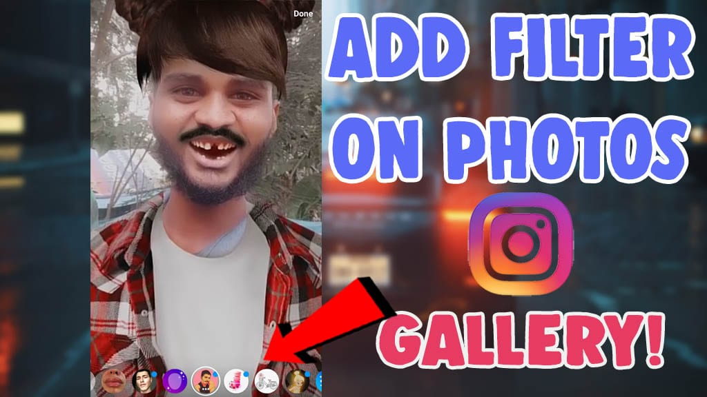 add filter existing photo videos