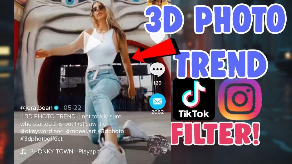 how to 3d photo trend titkok