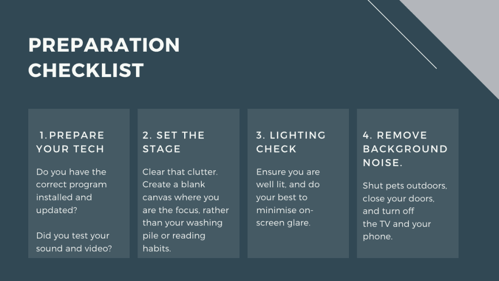 Video interview preparation checklist