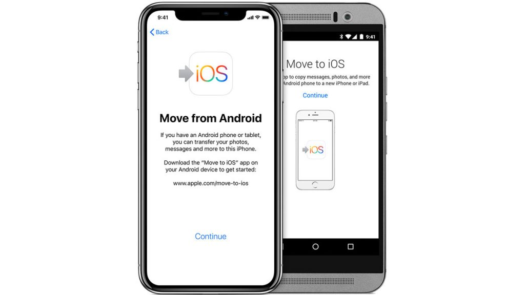 Moving contacts from Android to iPhone using Move to iOS