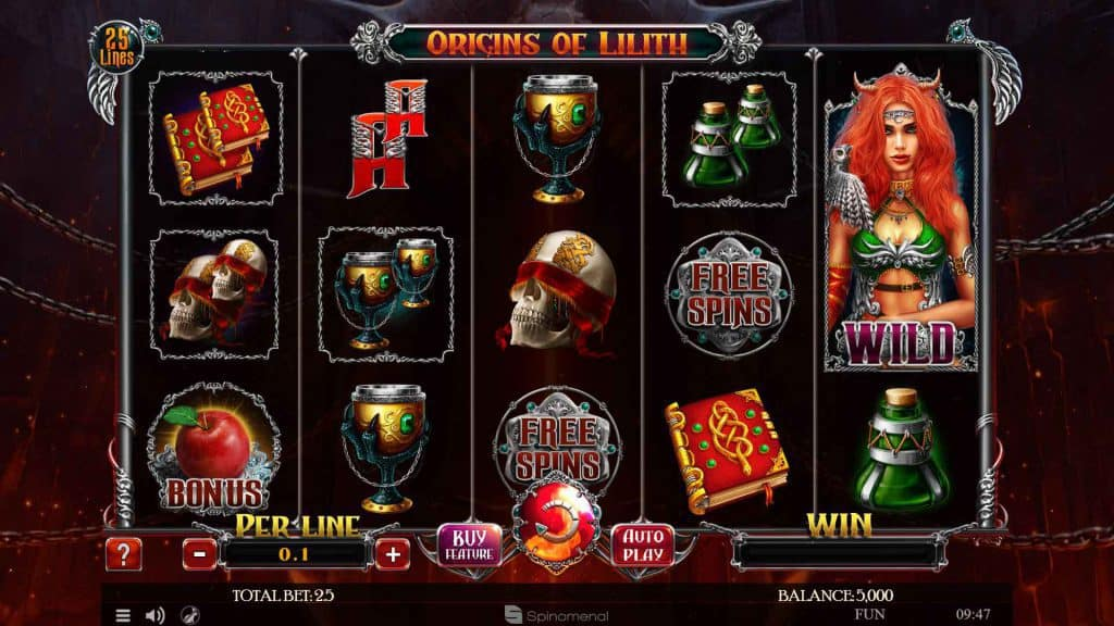 Origins of Lilith Pokies