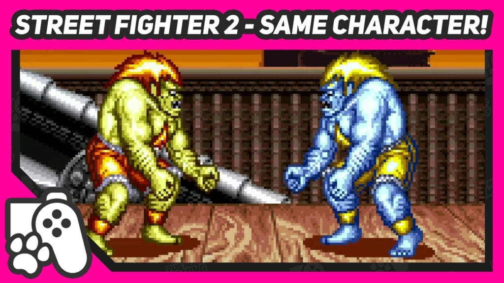 20201106 - street fighter 2 same character in vs mode