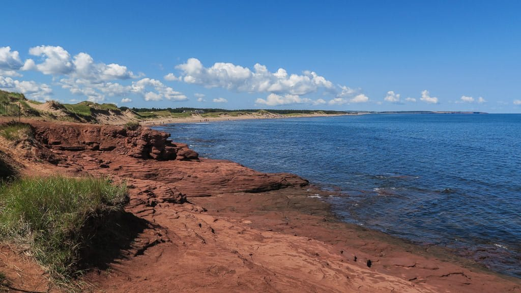 Overlook while cycling the Gulf Shore Way in PEI
