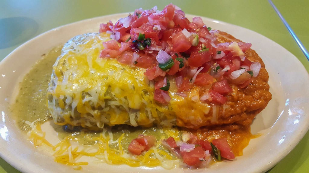 giant smothered burrito at Snooze