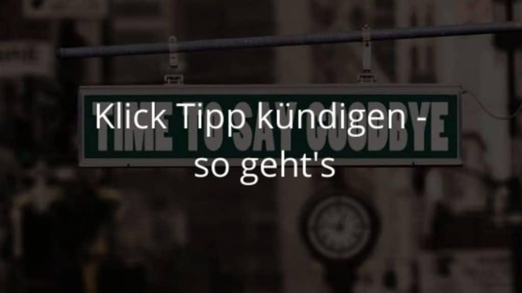 Klick Tipp kündigen blog banner