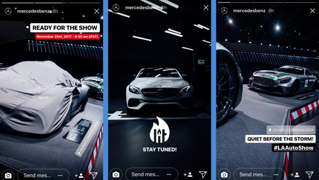 instagram story examples from mercedes
