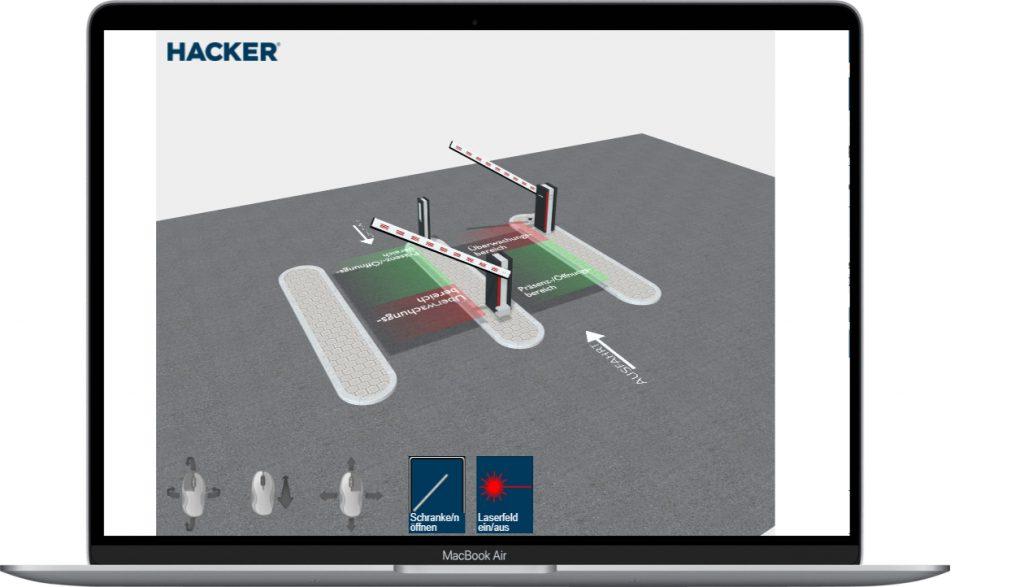 Hacker Schrankenkonfigurator