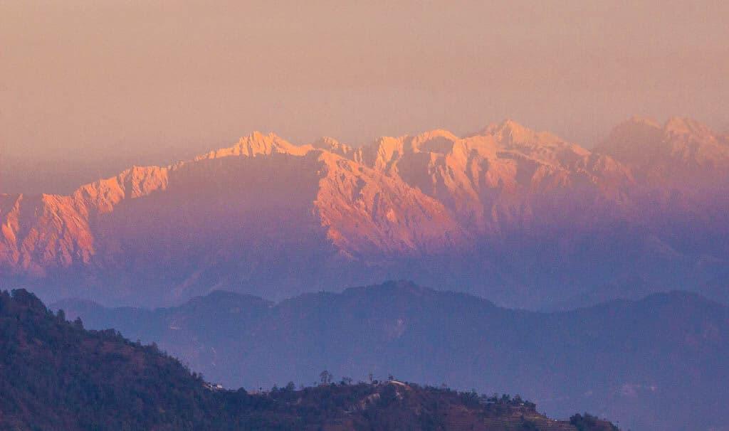 Views of the Himalayan Mountains from Nagarkot