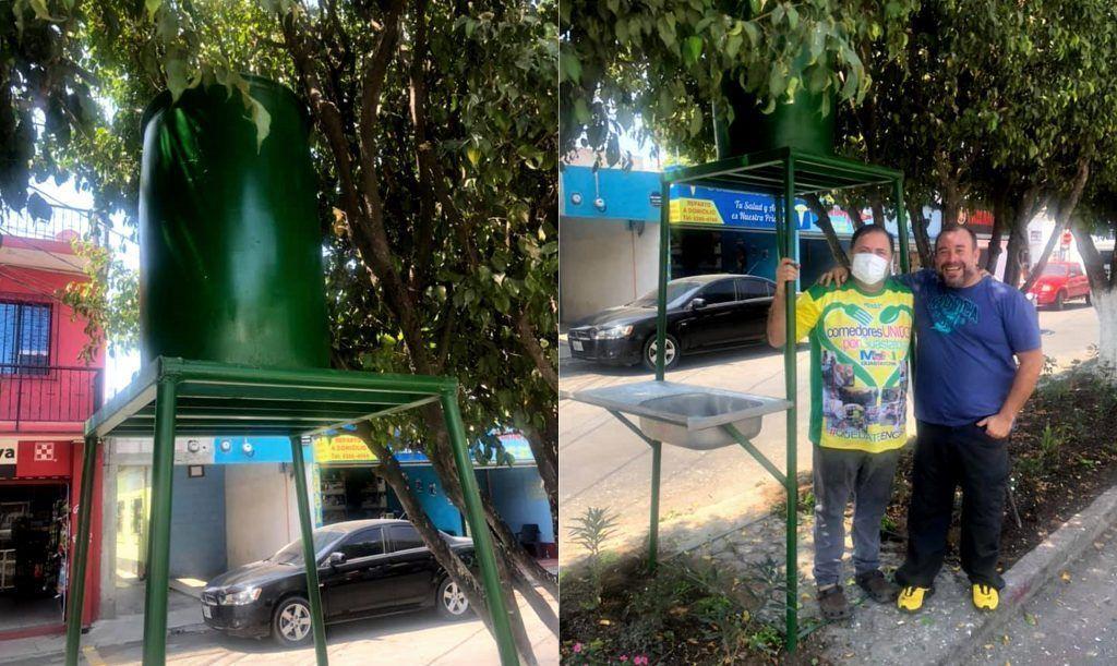 Depósito de Agua. Alcalde y Marvin Catalán