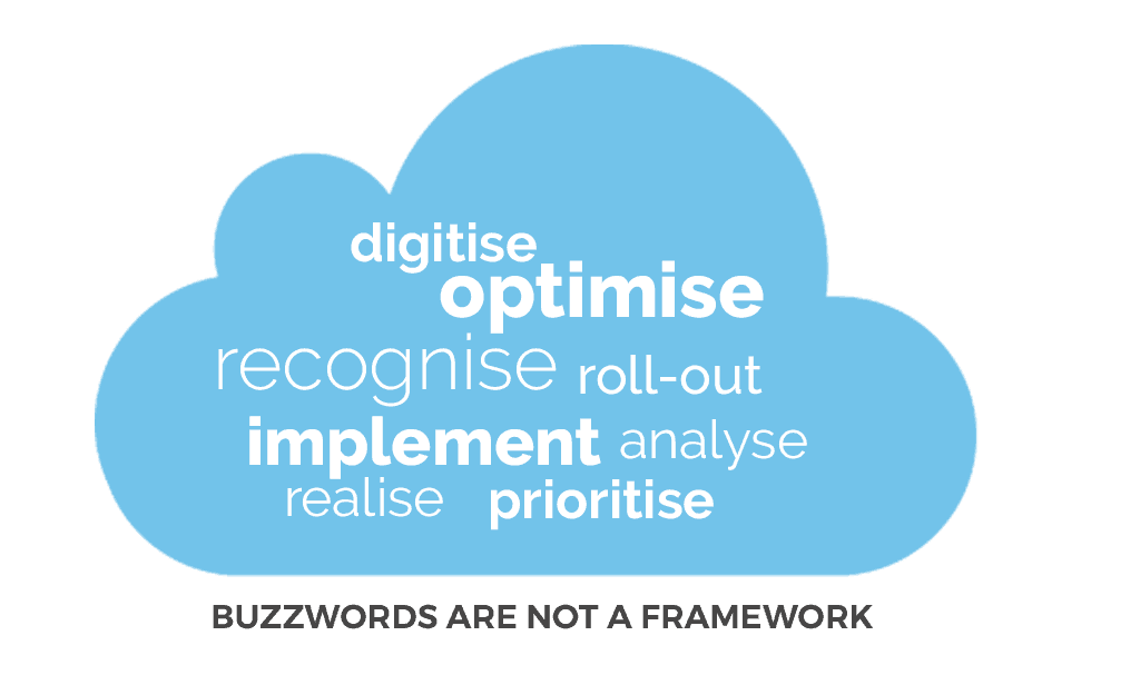 What is a digital transformation framework? Buzzwords are not a framework
