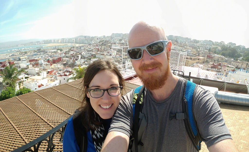 rooftop selfie in tangier on day trip to Morocco tour