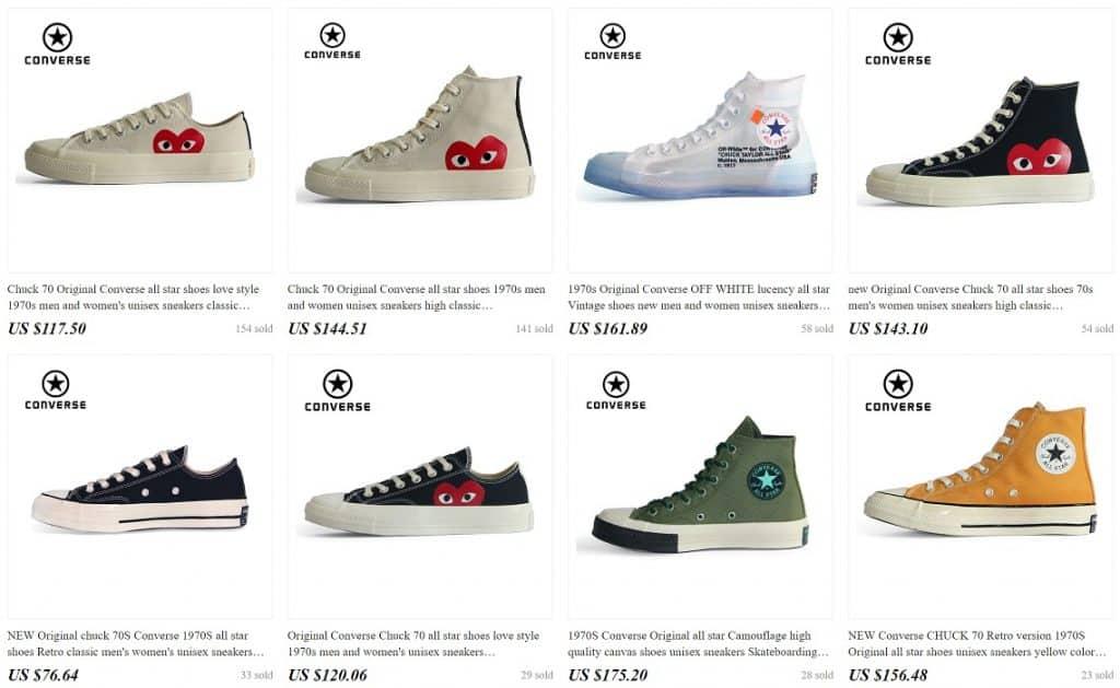 Top 5 Best Converse Replica Shoes Converse Copy Fake AliExpress ConverseonlineStore 1 Designs