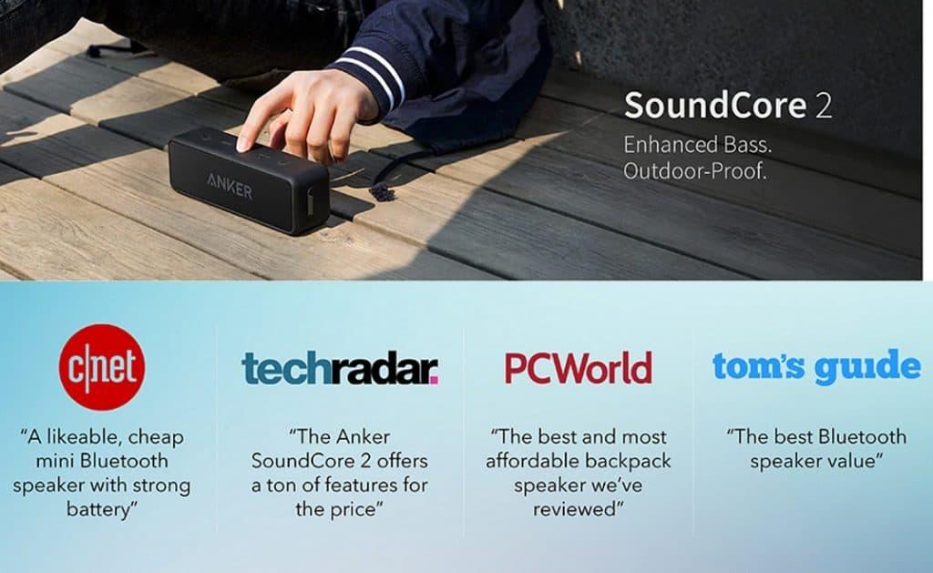 Cheap Outdoor Bluetooth Speaker Bose alternative Portable speaker Bose replica latest AliExpress Anker Soundcore 2