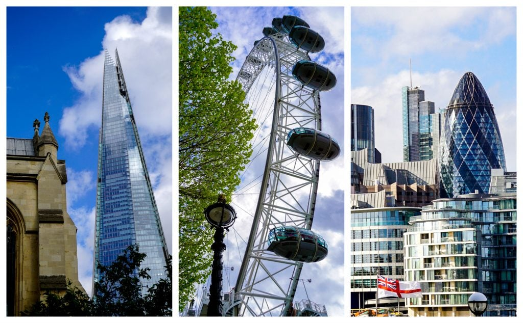 New London: Shard, London Eye, Gherkin - Experiencing the Globe