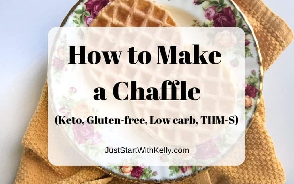 how to make a chaffle title image