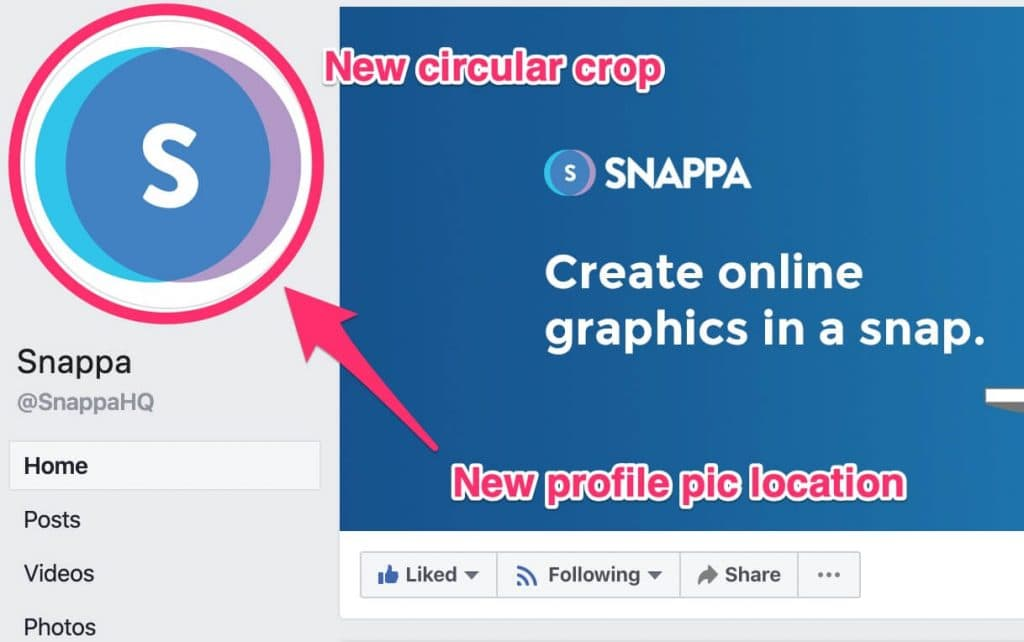 new facebook profile picture layout