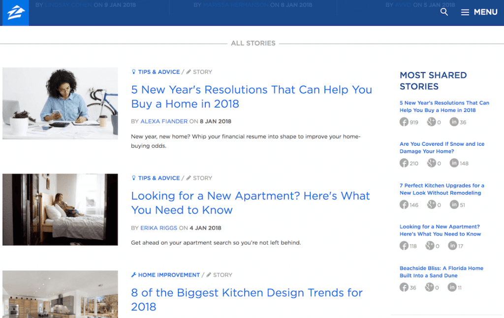 zillow best real estate blogs