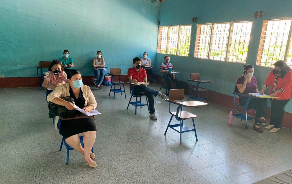 Reunión de docentes de Indicoogua