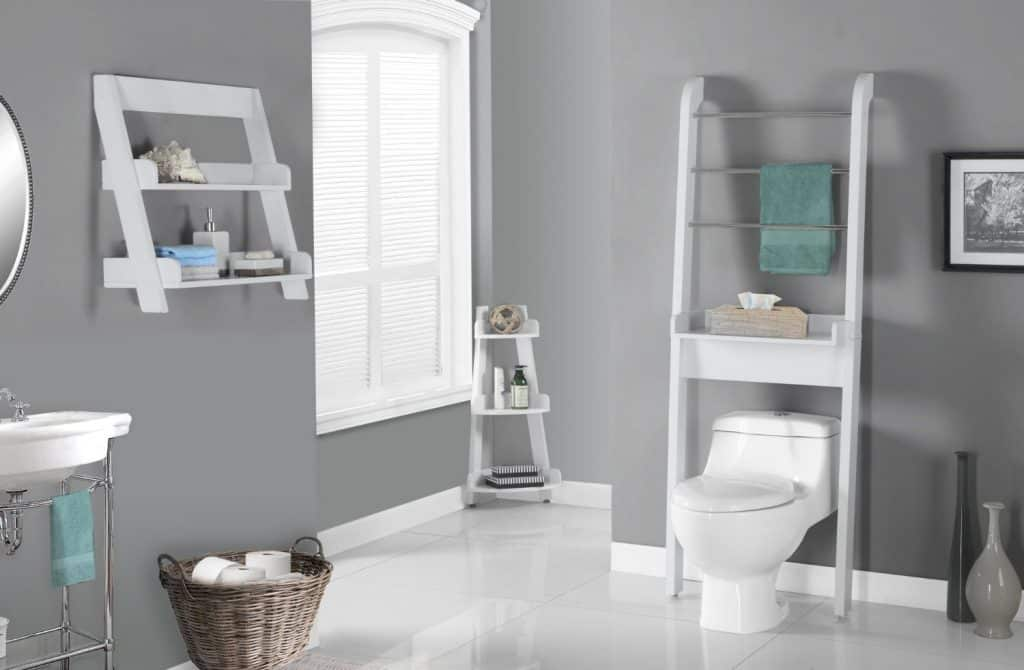 Monarch Specialties White Bathroom Space Saver