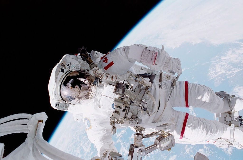 Image: Chris Hadfield on a space walk
