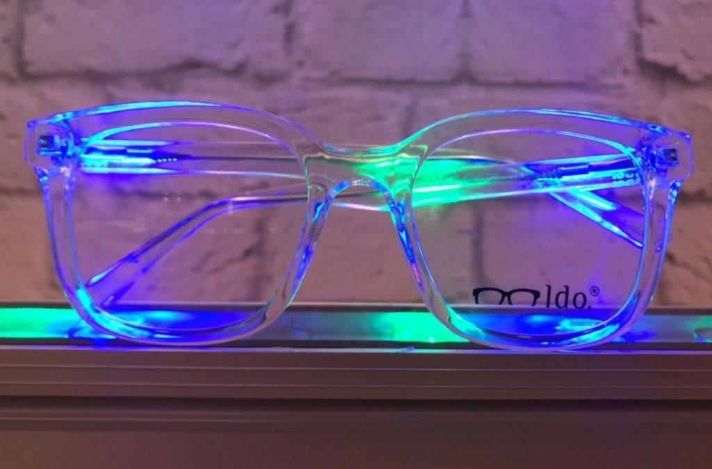 Óculos de grau transparente
