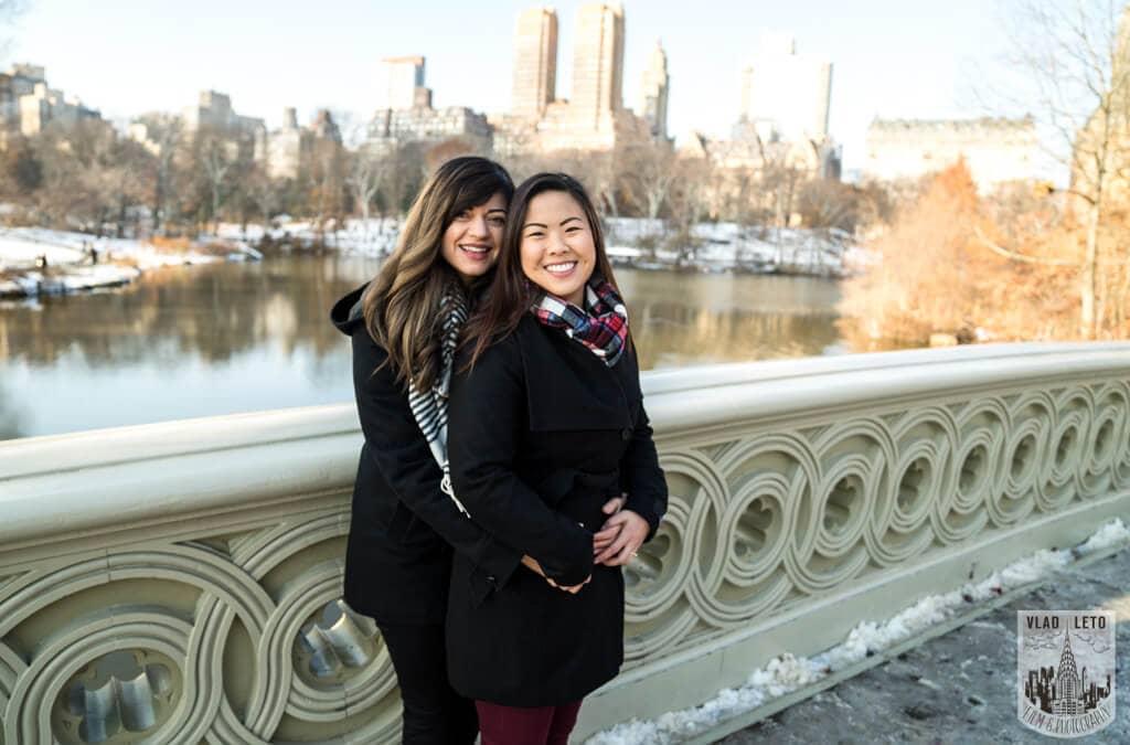 Photo 41 Same Sex proposal by Brooklyn Bridge + Engagement in Central Park | VladLeto