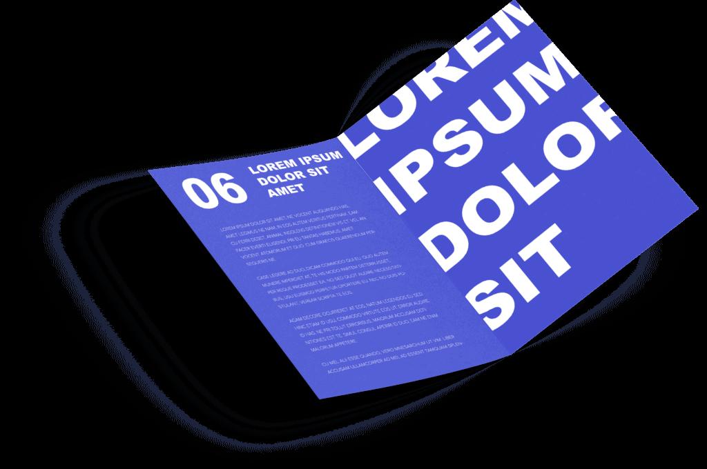 projektowanie broszur i folderów reklamowych