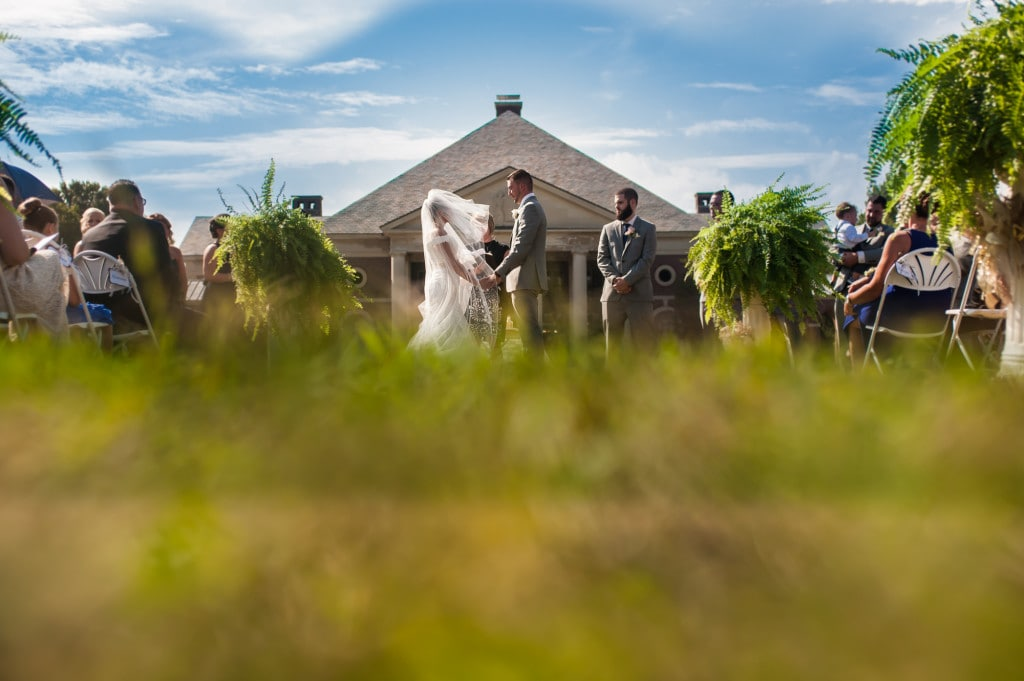 Hall of Springs outdoor wedding ceremony | Rob Spring Photography