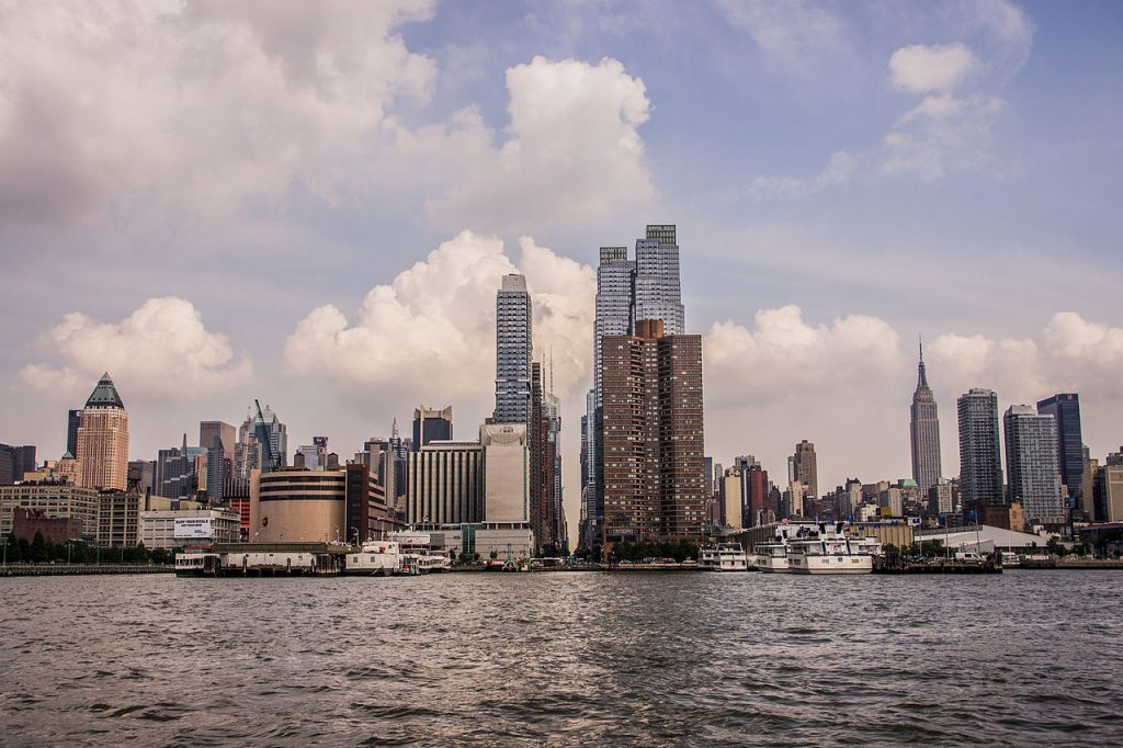 New York skyline from the Hudson River