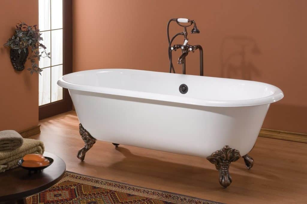 Cheviot Regal Double Ended Cast Iron White Clawfoot Tub 2111W-W Feet