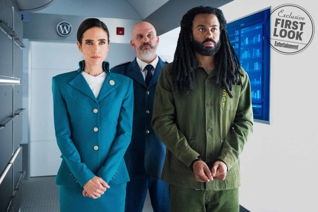 An image of Jennifer Connelly & Daveed Diggs from 'Snowpiercer' Series.