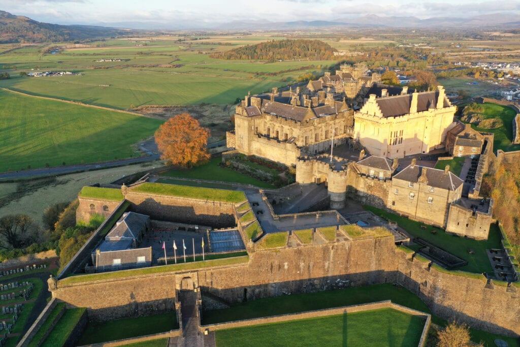 Sunrise over Stirling Castle by pilot Bjorn Aaen, Drone Scotland - November 2019