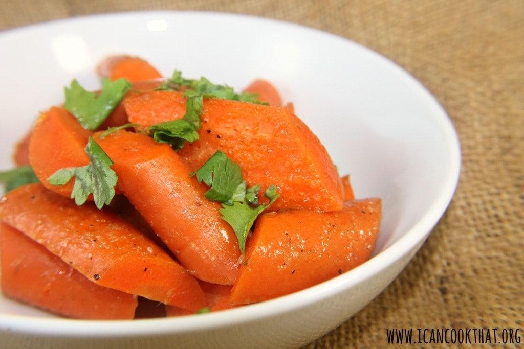 Cardamom Glazed Carrots