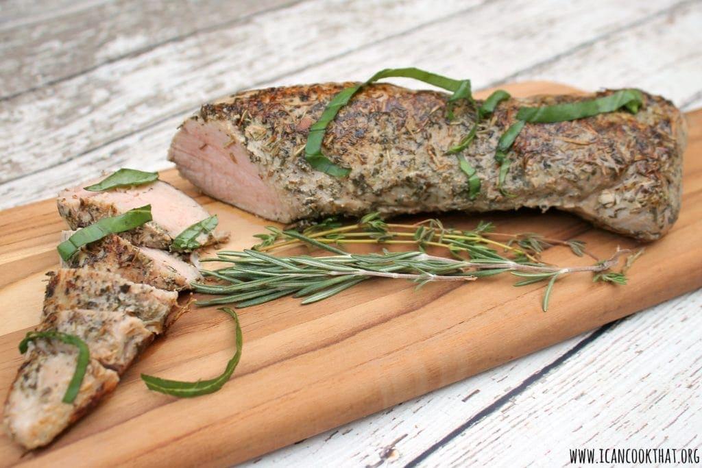 Sous-Vide Herb Crusted Pork Tenderloin