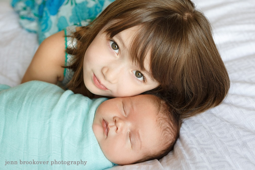 big sister and baby brother