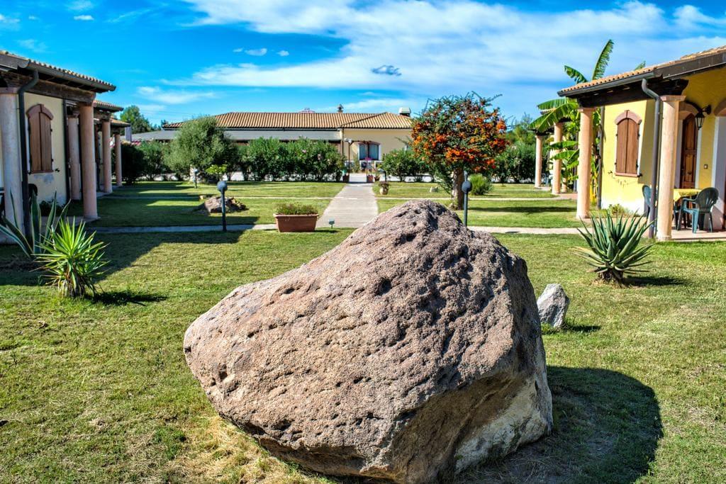 The garden of hotel perda rubia