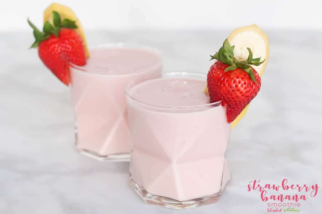 Easy Banana Strawberry Smoothie