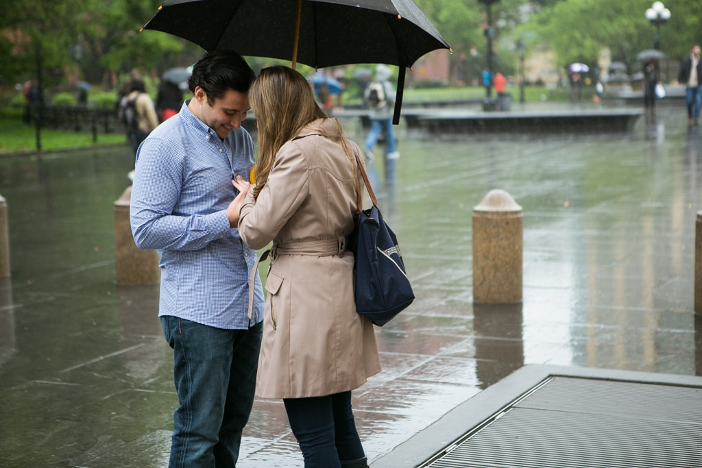 [ TRainy Washington Sq. Park Propose ]– photo[3]