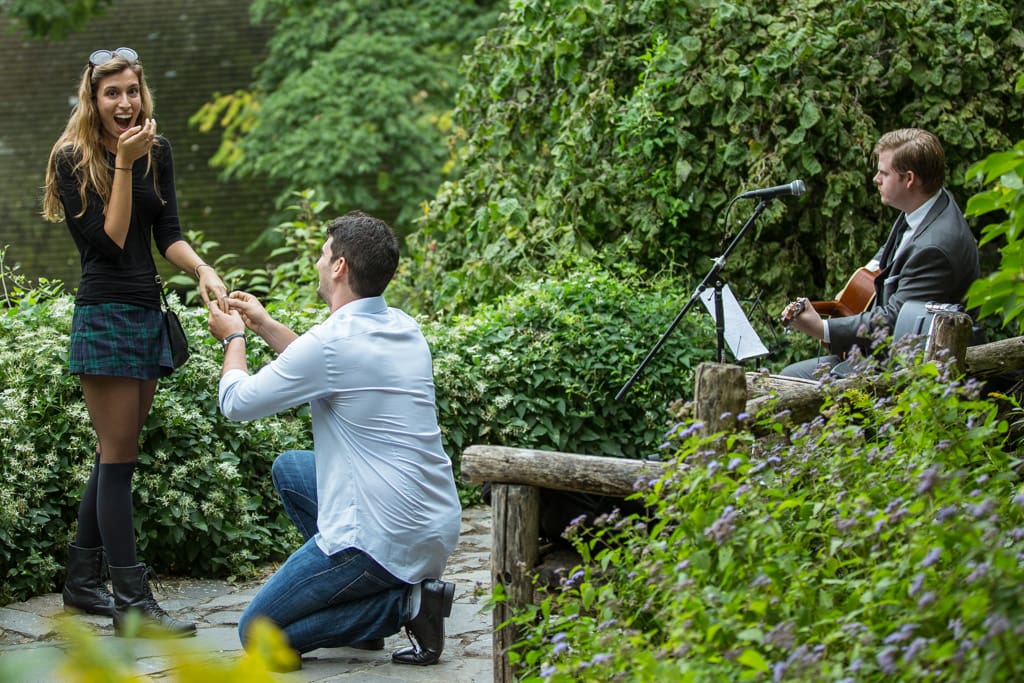 Proposal in Shakespeare Garden at Central Park]– photo[5]