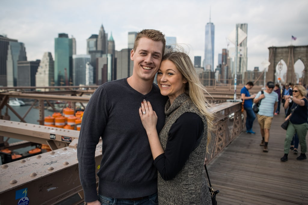 Photo 13 Surprise Wedding Proposal on Brooklyn Bridge. | VladLeto