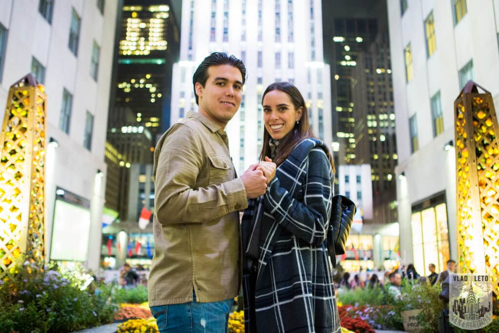 Photo 9 Engagement on Ice. Rockefeller Center Ice Skating Rink. | VladLeto