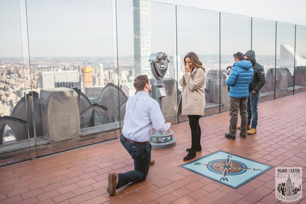 Photo Top of the Rock Marriage Proposal 3 | VladLeto